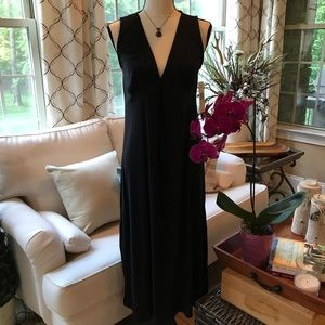NWT Jones New York Pintuck Jersey Black Maxi Dress
